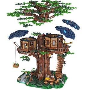21318 More Models Tree House Building Blocks Mountain Cave Sky Garden Assemble Bricks Children Toys Christmas Gift(China)