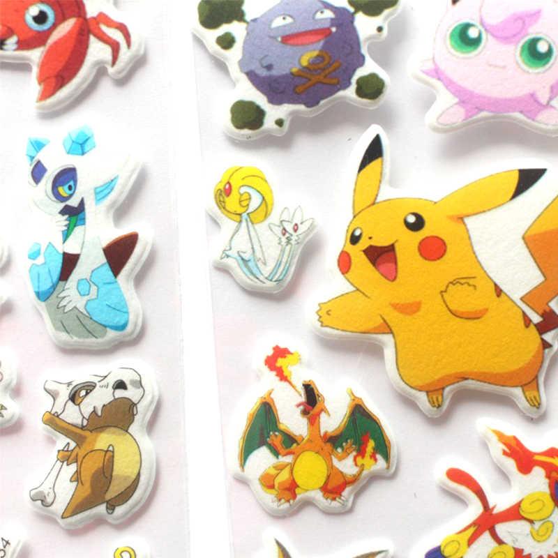 3D Lucu Pokemoner Pergi Stiker Dinding Dekorasi untuk Laptop Despicable Pikachu Stiker Kulkas Skateboard Doodle