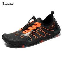 Erkekler kadınlar dayanıklı yürüyüş ayakkabıları Sneakers açık tırmanma Trekking spor ayakkabı kaymaz düz ayakkabı Unisex sığ su ayakkabı