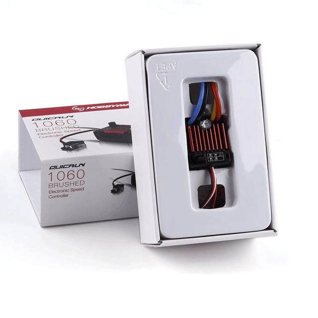 1 шт. оригинальный щеточный электронный контроллер скорости HobbyWing quirun 1060 60A ESC для 1:10 радиоуправляемого автомобиля водонепроницаемый для радиоуправляемого автомобиля