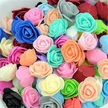 500 pçs 3cm artificial espuma rosa cabeças flor para diy grinalda casa decoração de casamento barato falso flor artesanal acessórios