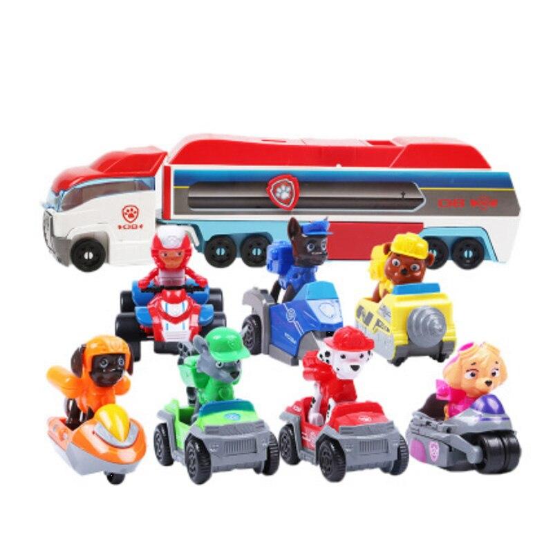 Paw Patrol Toys Psi Patrol Birthday Set Patrulha Canina Robo-Dog Ryder Marshall Chase Figures Model Car Christmas Gift Toy