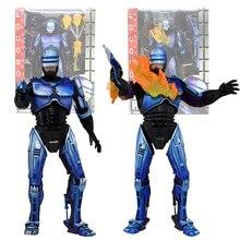 Robocop фигурка NECA Robocop VS Terminator Серия 2 битва поврежденный огнемет экшн Коллекционная модель игрушки 18 см