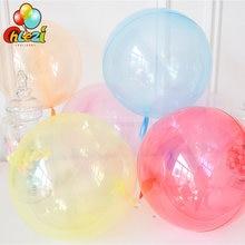 1 adet yuvarlak kristal şeffaf Bobo balonlar 18