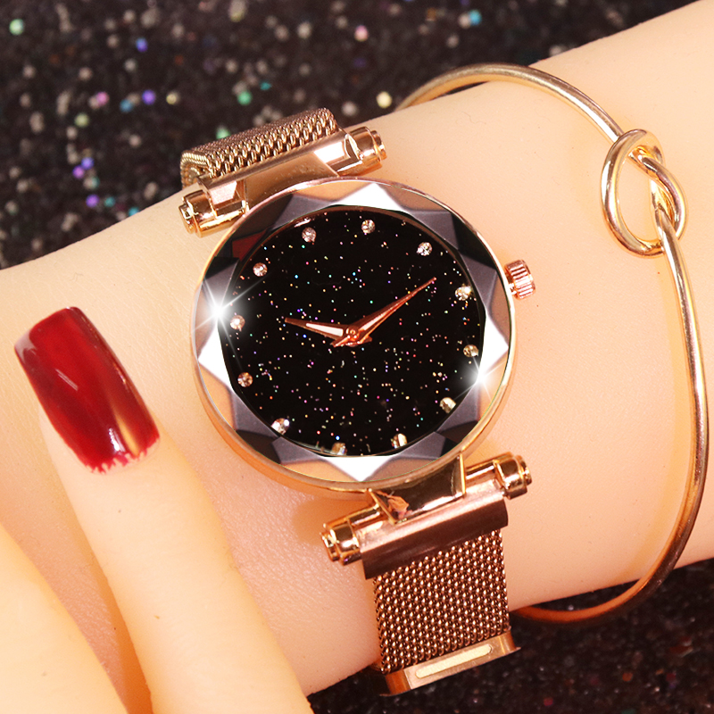 Luxury Women's Watches Starry Sky Rose Gold Magnetic Watch Women Watches Diamond Ladies Watch reloj mujer relogio feminino