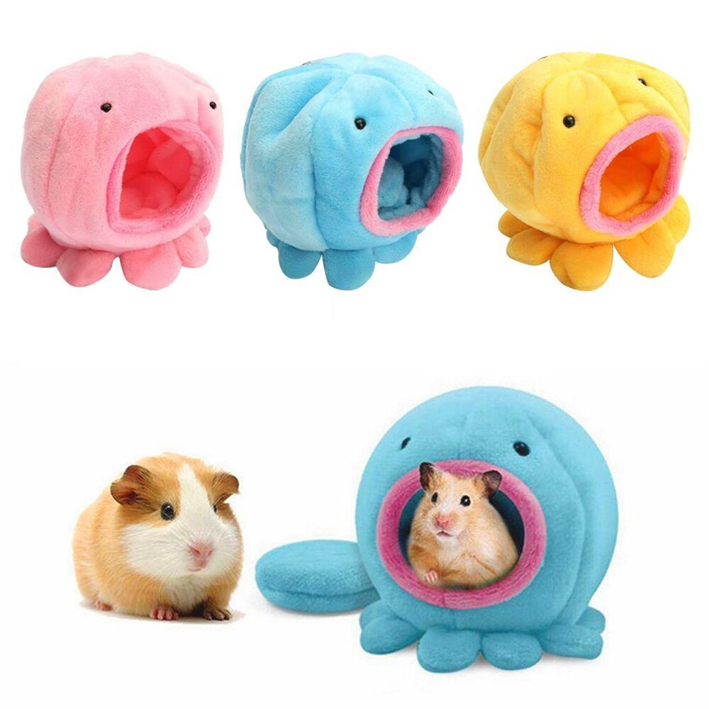 Portable Small Pet Sleeping House Cute Octopus Small Pet House Soft Hamster Hanging Bed Small Animals Cotton Nest 8