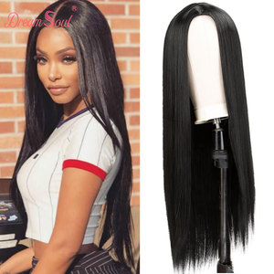 30 inch Straight Wig Black Pink Red Burgundy Synthetic Wigs For Black Women Long Cosplay Heat Resistant Fiber Wig Dream Soul