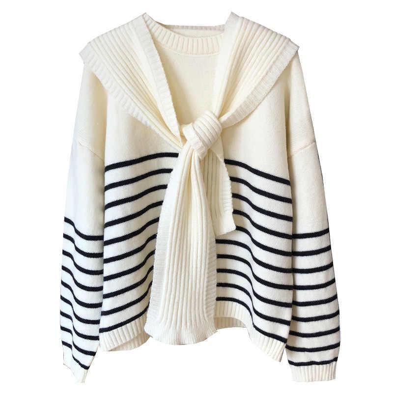 풀오버 스웨터 가을 겨울 코트 여성 의류 2020 한국 빈티지 따뜻한 두꺼운 탑 스웨터 당겨 Femme Ropa Mujer ZT4662