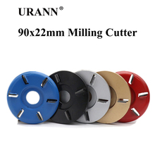1pcs 90x22mm Curved/Flat 3/4/5/6 Teeth Plane Wood Carving Disc Milling Cutter 22mm Aperture Tea Tray Milling Tool