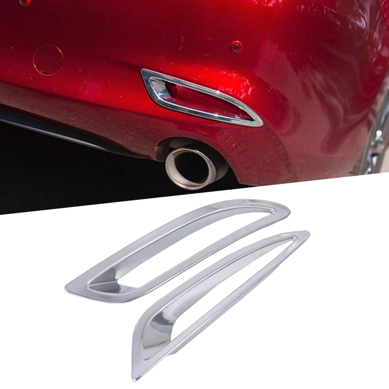 ABS Chrome Front Fog Light Lamp Cover 2pcs For Mazda 6 M6 Atenza 2017