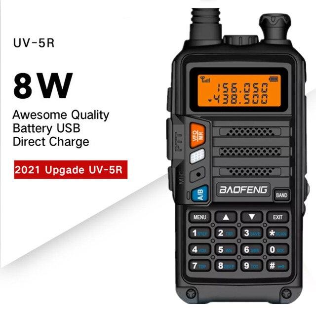 BaoFeng UV 5R Walkie Talkie UV 5R อัพเกรดรุ่น CB วิทยุ Hf Transceiver 8W 10Km UHF VHF walkie Talkies UV 82 UV 9R