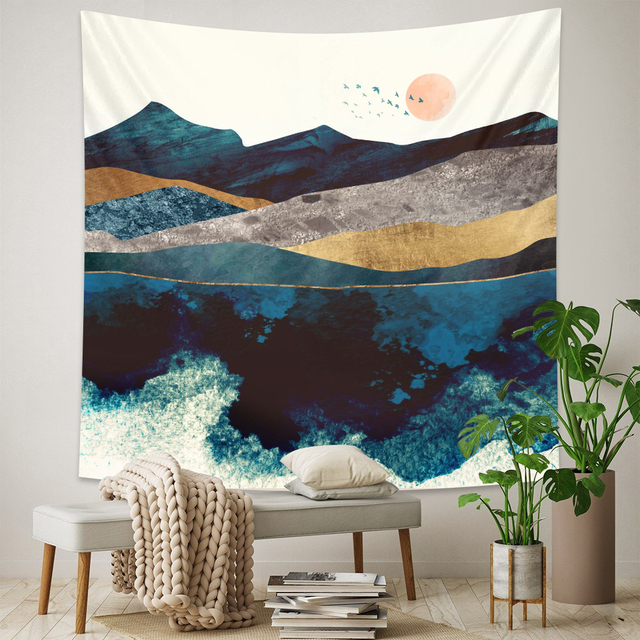 Abstract Landscape Wall Tapestry 6