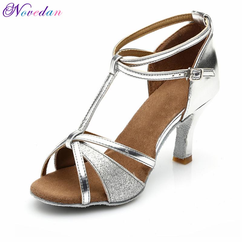 New Latin Dance Shoes For Women/Ladies/Girls Samba Salsa Tango Pole Ballroom Dancing Shoes Heeled 7CM / 5CM