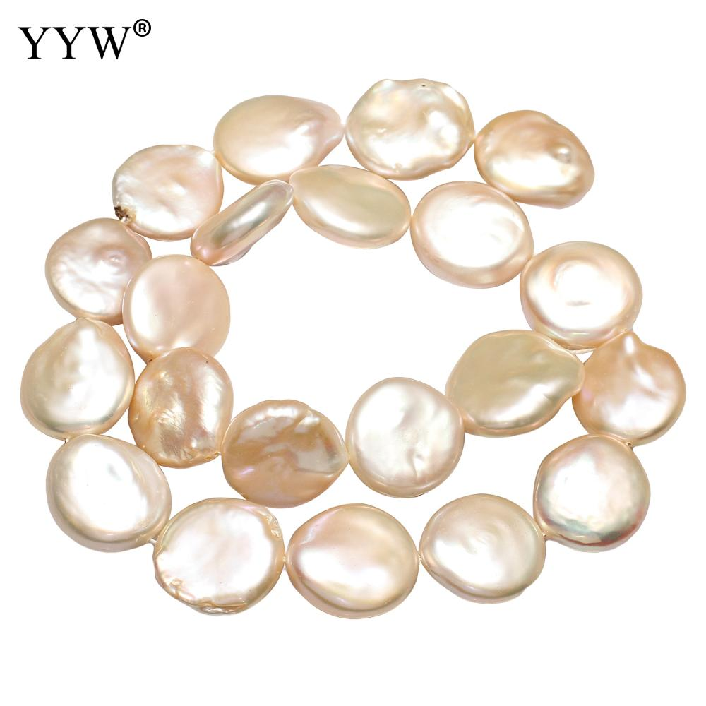 16 18mm Cultured Button Freshwater Pearl Beads Jewelry Making Beads Bulk Beads 2019 New Famous Fashion Brand Natural Pink