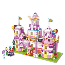 1183PCS Girl Friends Alice Princess Sweet Castle Royal Stud-farm Carriage Outing Training Legoed Model Building Blocks Toy