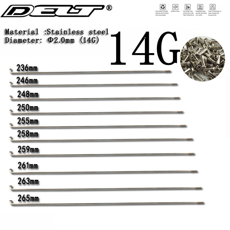 5Set road Mountain bicycle Bike Spokes 236/246/248/250/255/258/259/261/263/265mm Nipples end cap tip Stainless Steel Accessories