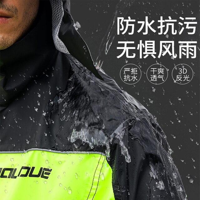 Adults Men Coat Motorcycle Raincoat Rain Pants Suit Rain Coat Men Waterproof Trench Coat Men Rainwear Thin Light Jacket Gift 2