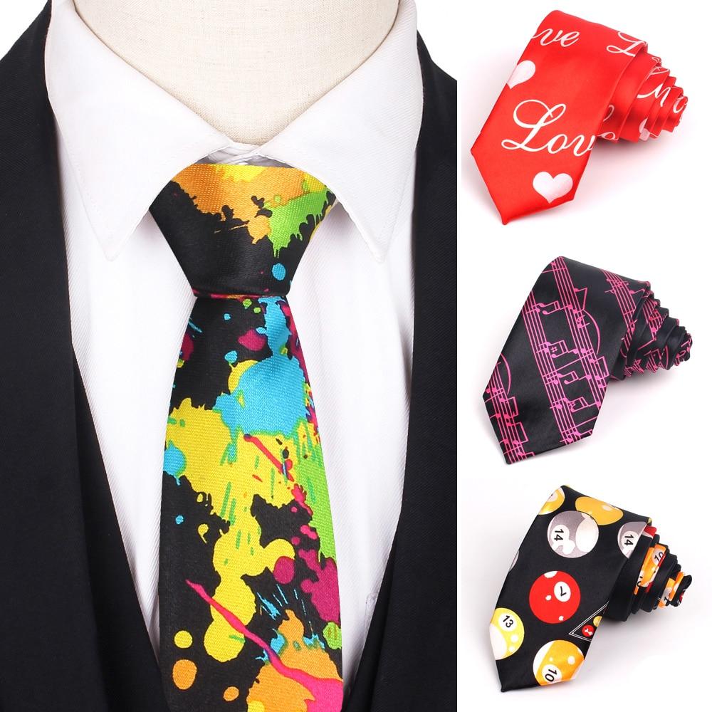 Skinny Ties For Men Women Colorful Printed Casual Neck Tie Slim Neckties Funny Fashion Mens Necktie For Wedding Party Gravata