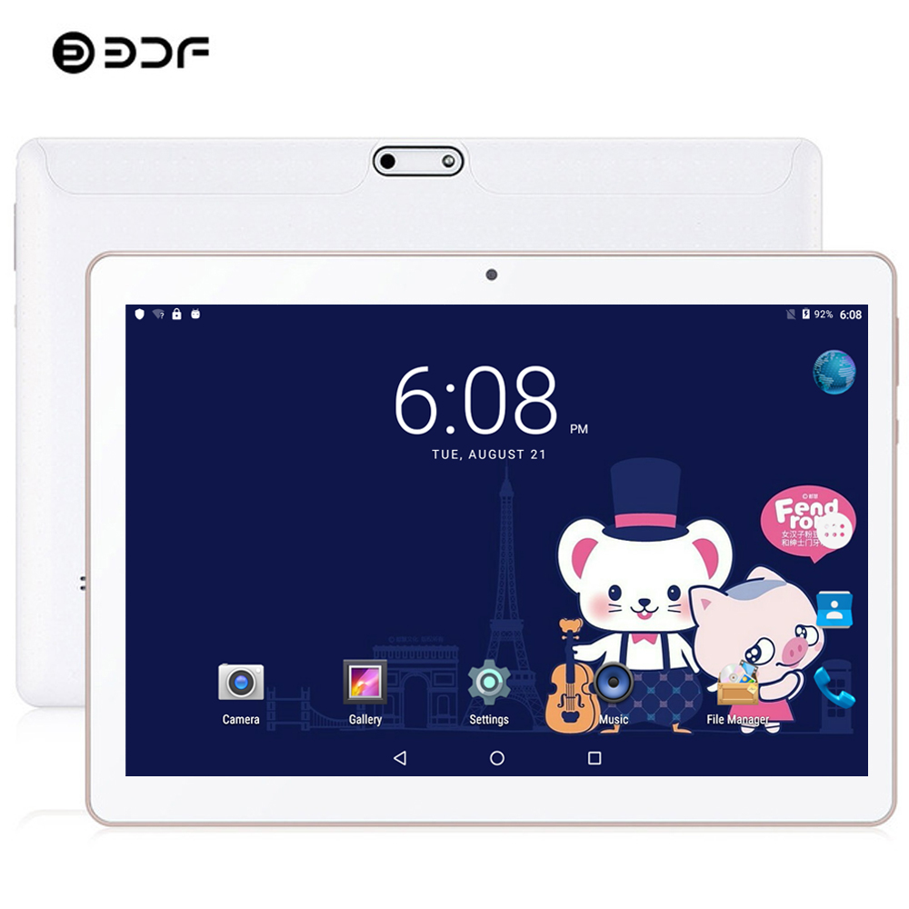 BDF Update 10 Inch Tablet Pc 4G Phone Call 8GB/128GB Dual SIM Dual Camera Android 9.0 Ten Core Card WiFi Bluetoot FM Tablet 10.1
