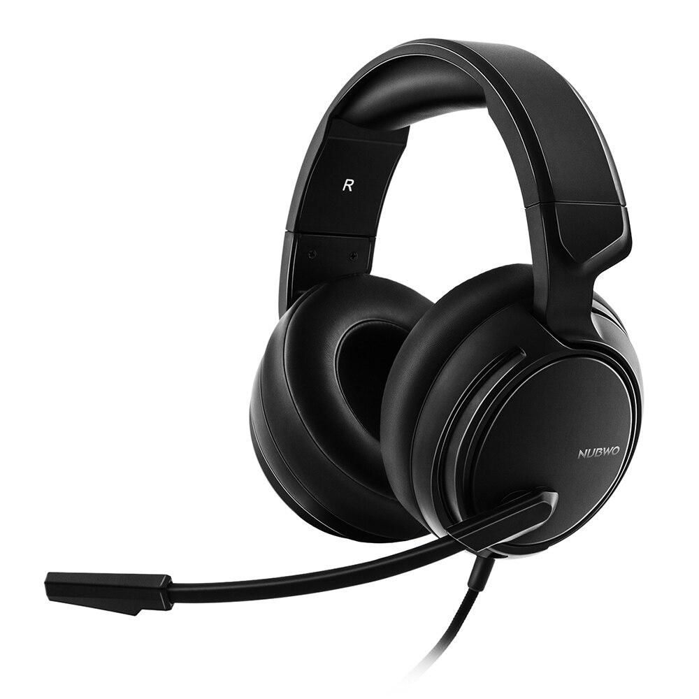 Игровые наушники NUBWO N12 с микрофоном, шумоподавление, 3,5 мм, AUX, Накладные наушники, гарнитура, регулируемая повязка на голову для ПК, ноутбука