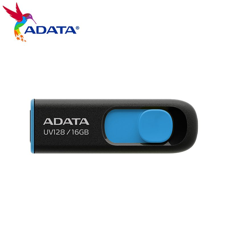 Оригинальный ADATA UV128 USB флэш-накопитель 16 Гб оперативной памяти, 32 Гб встроенной памяти, 64 ГБ 128 высокое Скорость USB 3,2 Gen 1 флеш-накопитель для к...