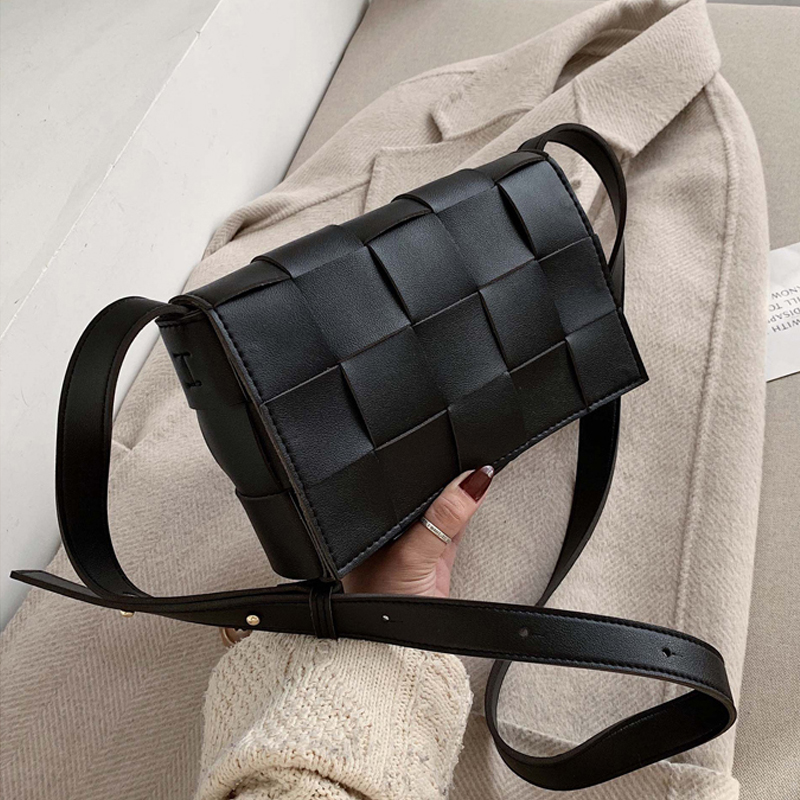 Cassette Bag For Women Weave Messenger Bag Designer Stitching Square Luxury Handbags Leather Retro Vintage Ladies Crossbody Bag