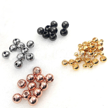 10pcs/lot Rose Gold Stainless Steel Round Ball Beads 2/3/4/5/6/8/10mm Hole Spacer Charm Beads for Bracelet DIY Jewelry Making x royal 10pcs lot stainless steel diy jewelry making findings cross shape loose beads 5 8mm small hole gold rose gold metal bead