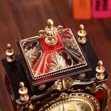 Reloj despertador creativo Reloj clásico reloj Imperial decoración de gabinete de escritorio reloj péndulo para sala de TV sala de estar.