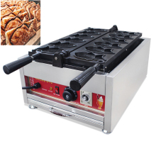 Commercial Electric Electric 6pcs Fish Waffle Taiyaki Maker Baker Iron CE 110V 220V Japanese Waffle Fish Cake Bread Maker high efficiency commercial gas double plate 12pcs fish taiyaki waffle maker machine taiyaki maker commercial