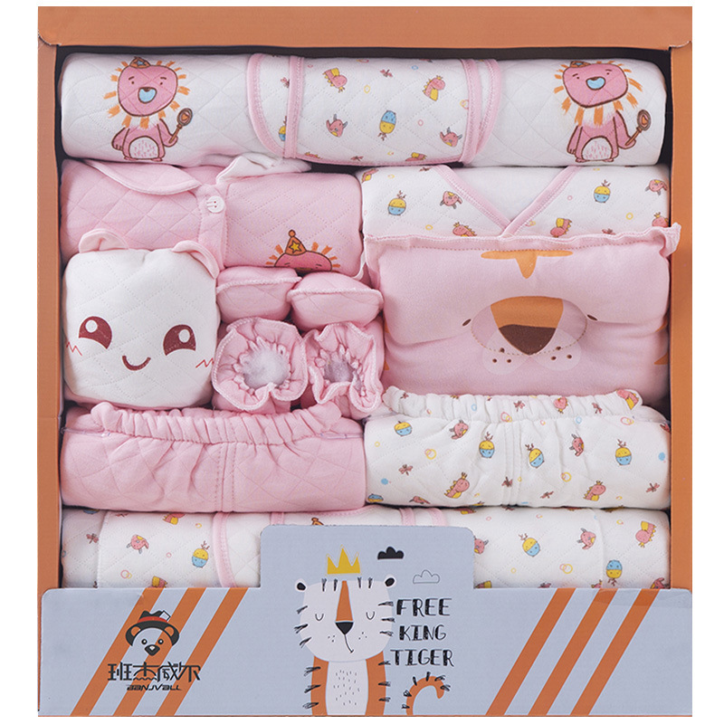 Newborns Gift Set Clothes For Babies Pure Cotton Autumn And Winter Thick 0-3 Month 6 Primary Newborn Baby Supplies