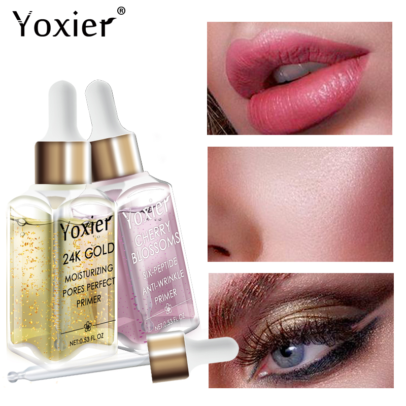 Yoxier Makeup Base Moisturizing Essence 24k Gold Elixir Oil Control Professional Matte Serum Series Brand Foundation Primer 1pcs-in Primer from Beauty & Health