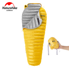 Naturehike CW300 Lightweight Winter Goose Down Mummy Camping Sleeping Bag Waterproof Compact Hiking Backpacking Sleeping Bag naturehike naturehike ultralight mummy sleeping bag camping goose down waterproof adult portable outdoor hiking cotton nh17g350