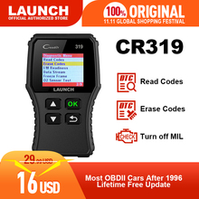 Launch X431 Creader 319 CR319 자동 코드 리더 전체 OBDII EOBD 자동차 진단 도구 OBD2 스캐너 Creader 6001 CR3001