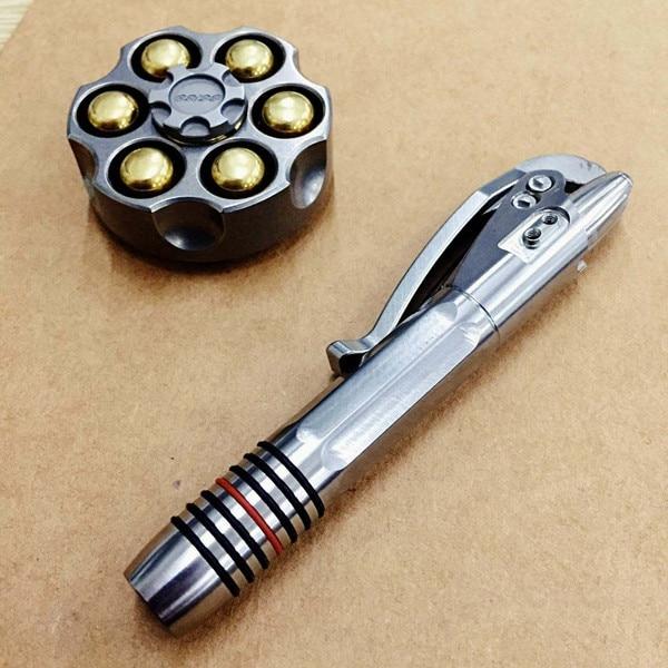 Aleación de titanio TC4 bolígrafo táctico EDC herramientas pluma de defensa