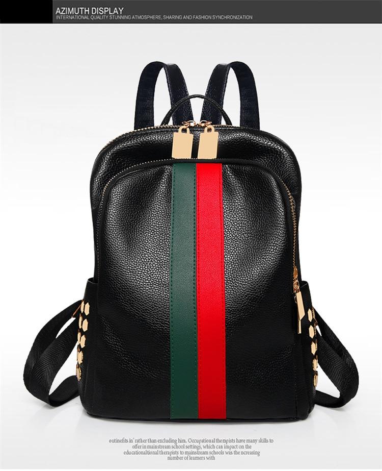 Hc3c8d7c3f7b24b7198393485a3ce8f40s Luxury Famous Brand Designer Women PU Leather Backpack Female Casual Shoulders Bag Teenager School Bag Fashion Women's Bags