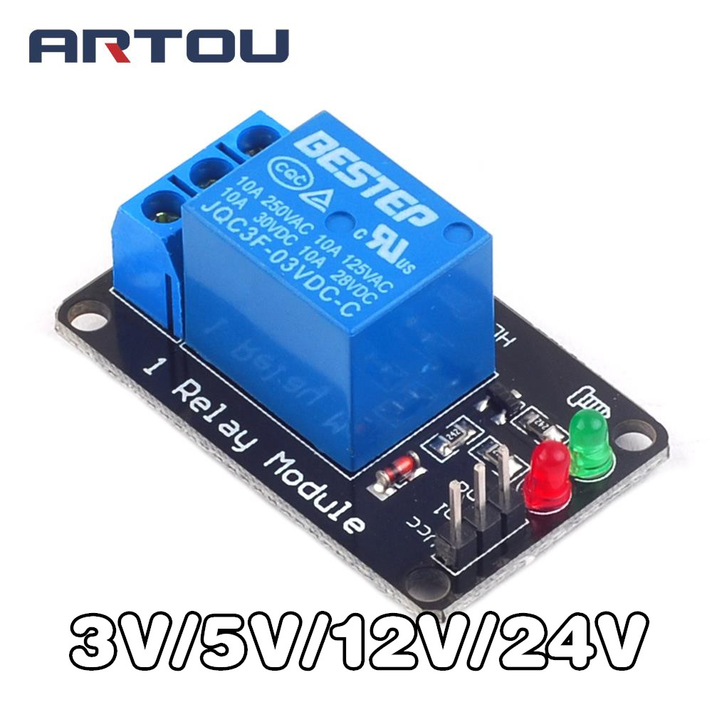 3.3V 5V 12V 24V low level trigger One 1 Channel Relay Module interface Board Shield For PIC AVR DSP ARM MCU Arduino