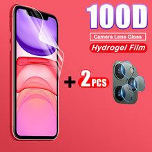 100D Full Cover Hydrogel Soft Film For iphone 11 Pro X XR XS Max 8 7 6s PLus Front Screen Protector Back Camera Protective Film(China)