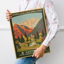 Affiche publicitaire de voyage français rétro, imprimés d'art du Chemin de Fer d'oliens et du Midi, autocollants muraux d'art de paysage de lithographie