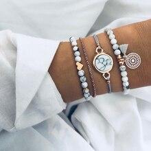 Fashion Silver Plated Charm Beads Bracelet Ladies New Bohemian Heart Tassels Hollow Pattern Jewelry Gift