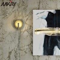 Casa arte interior fantasia vidro fosco cobre lâmpada de leitura cabeceira noite iluminação parede para corredor luminárias