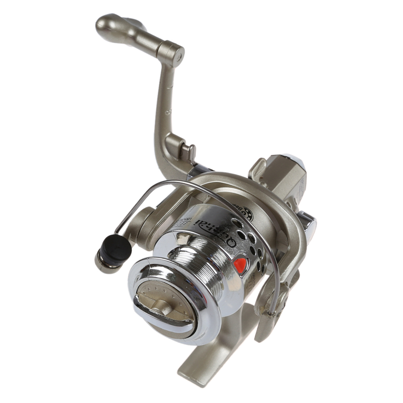 6BB Ball Bearings Left/Right Interchangeable Collapsible Handle Fishing Spinning Reel SG3000 5.1:1(Silver) Fishing Reels     - title=