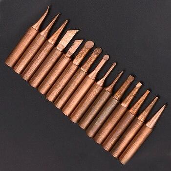 15pcs Pure Copper Lead-free Soldering Iron Tips 900m Tip for Soldering Rework Station for 936, 937, 938, 969, 8586, 852D Solder