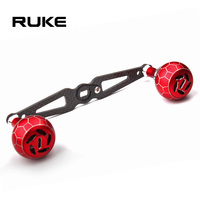Ruke New Fishing Reel Handle Carbon Fiber Handle For Baitcasting So Lighte High Quality Hole Size 8*5/7*4mm Length 130mm