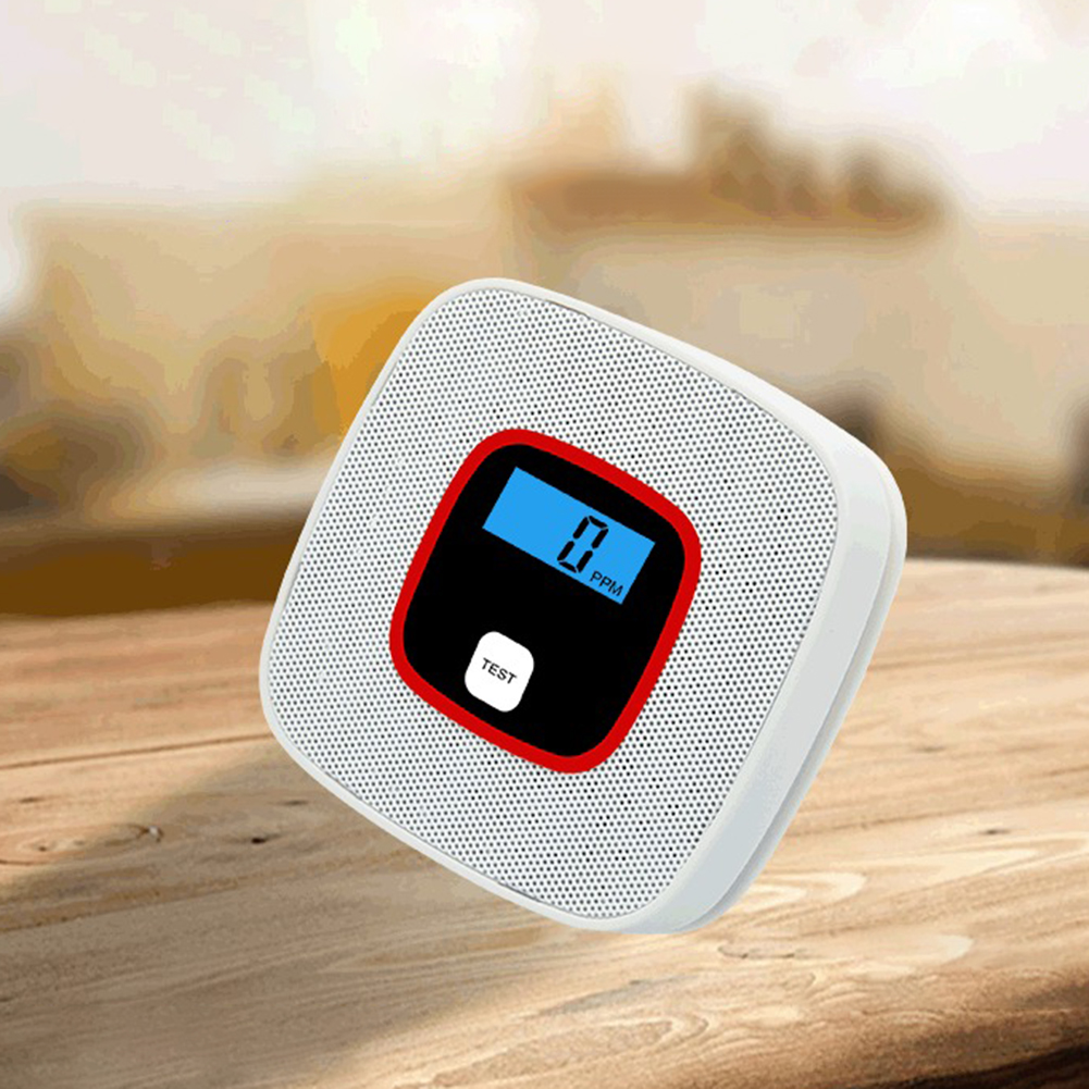 Photoelectric CO Gas Sensor Carbon Monoxide Detector Alarm Poisoning Warn Alarm Multifunctional Home Air Quality Monitor