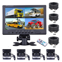Caravan Lcd-Monitor Parking-Camera Truck Motorhome Quad-Split-Screen Car-Rear-View Podofo