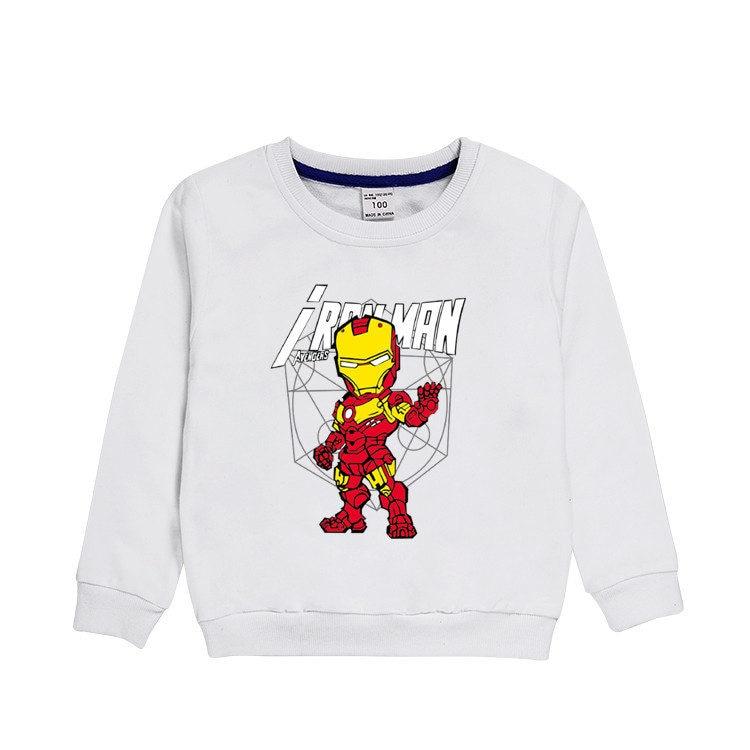 3~8 Years Autumn winter children's clothing Cartoon anime Iron hero Long-sleeved shirt T-shirt cotton blouse boy clothes gift 2