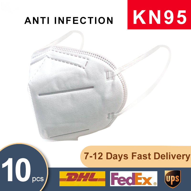 10PCS N95 Mask Mouth Face Mask Dust Anti Infection CE KN95 Masks PM2.5 Anti-fog Protective Respirator Reusable & 100pcs Mask Pad