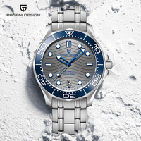 PAGANI DESIGN-Reloj de pulsera para hombre, de lujo, zafiro, mecánico, automático, de acero inoxidable, NH35A, 2021 M, resistente al agua, nuevo de 200