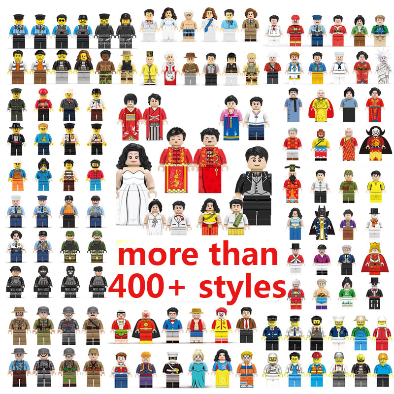 City Figures Ninja SWAT Soldiers Bricks Set Super Heroes Occupations Minifigs Building Blocks Figure Friends Toys for Children image
