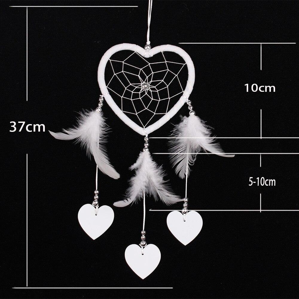 Mini Auto Traum Catcher Perlen Natürliche Federn Handwerk Chic Hängen Ornamente Spiegel Zimmer Schlafzimmer Wand Dekor Baby Room Decor